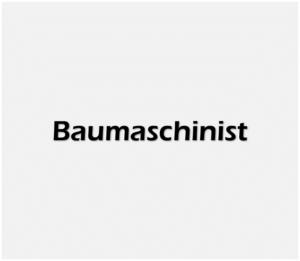Baumaschinist weiss